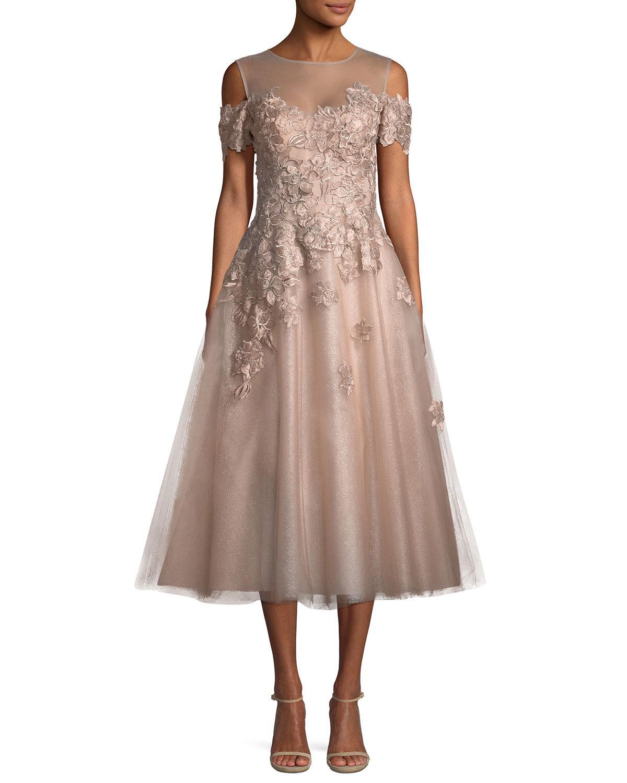 8bbe6465464 Teri Jon. Women s Organza 3d Embellished Illusion Gown