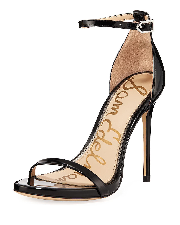 a4752767c27 Lyst - Sam Edelman Ariella Patent Strappy Sandals in Black