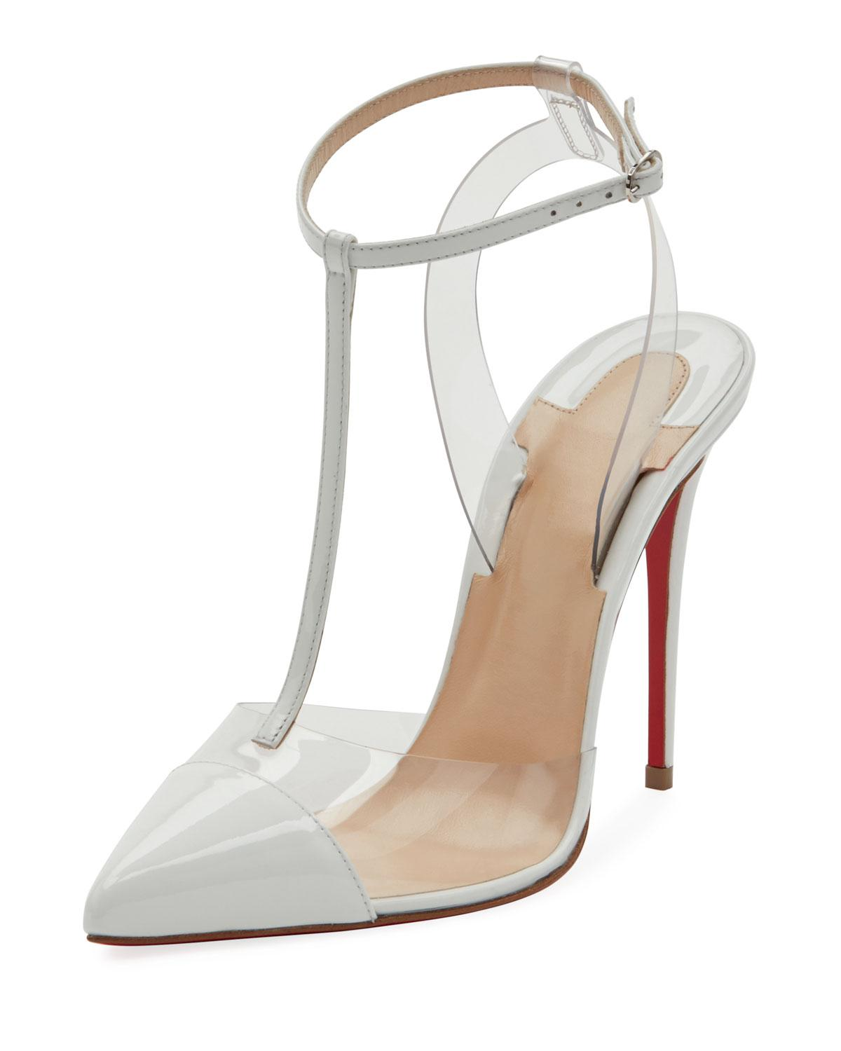 8abffcc85748 Lyst - Christian Louboutin Nosy T-strap Red Sole Pumps