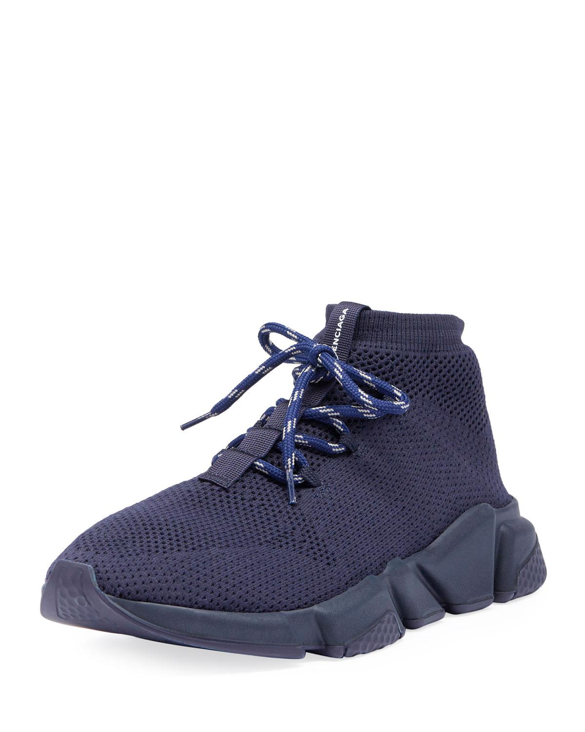 f75ef2d91593e Lyst - Balenciaga Men s Speed Mesh Sneakers in Blue for Men - Save 3%