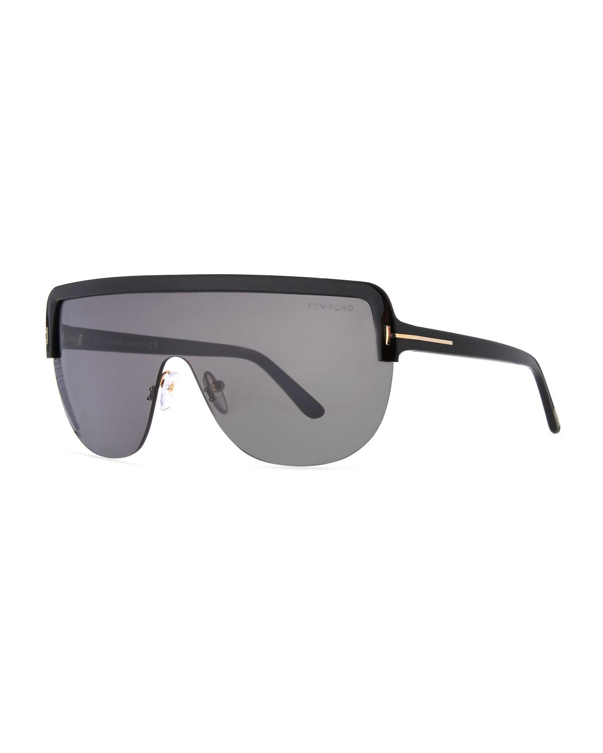 093c007108f5 Tom Ford River Clubmaster Sunglasses In Matte Black   Tort Lens G ...