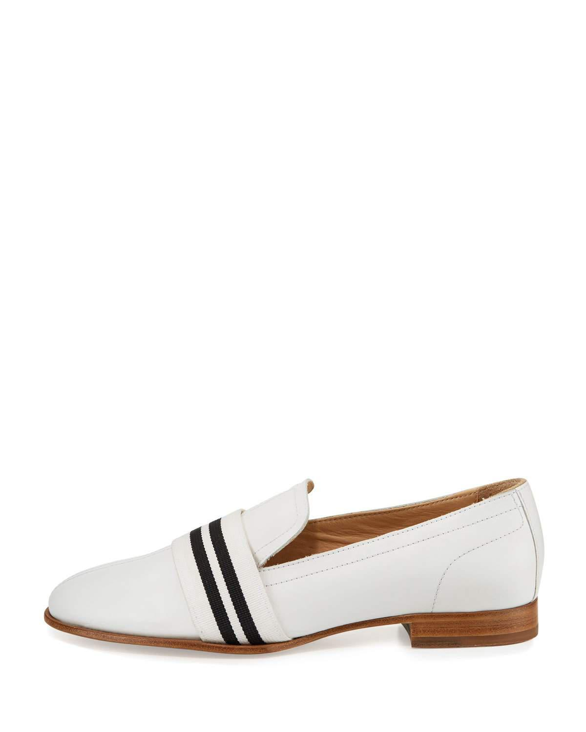 ca44bcf4d87 Lyst - Rag   Bone Amber Striped-web Leather Loafer in White