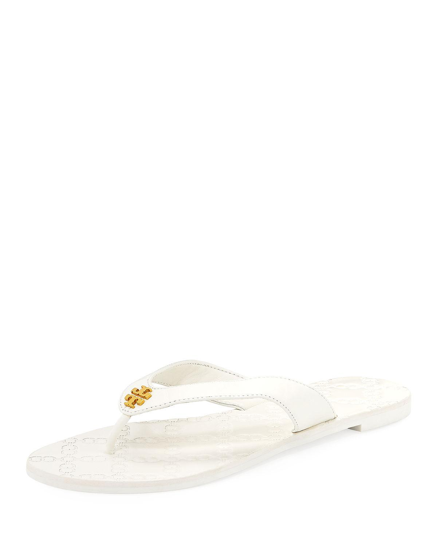 6d9338f21d3f Lyst - Tory Burch Monroe Flat Thong Sandal in White