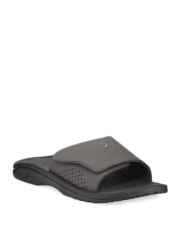 9663f9d67e56 Lyst - Olukai Men s Nalu Grip-strap Slide Sandals Black in Black for Men