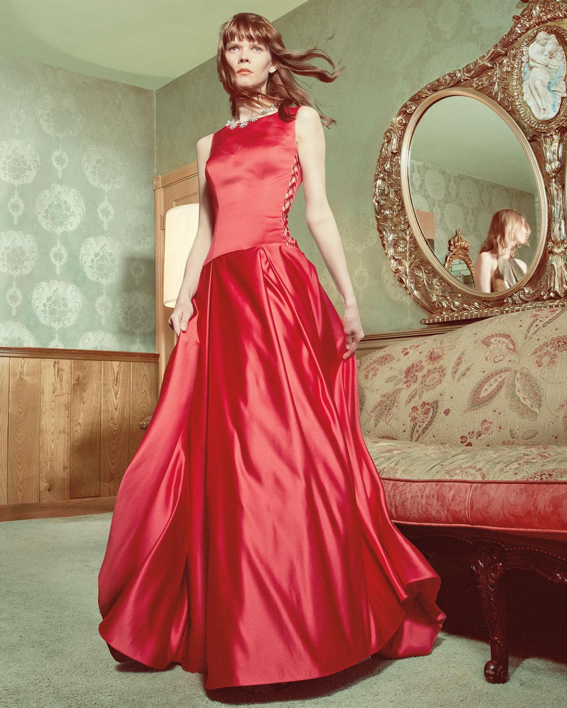 488024d2f1d Lyst - Jovani Sleeveless Pleated Satin Ball Gown in Black