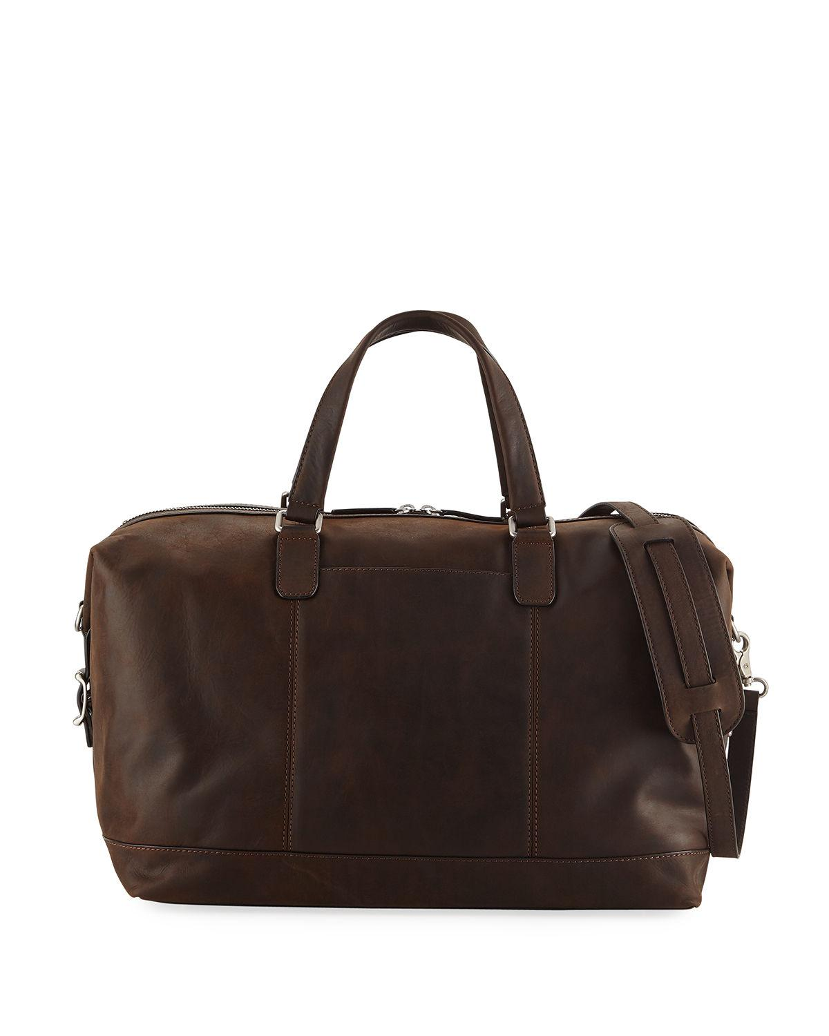 1630420fb063 Frye - Brown Men s Oliver Suede Overnight Bag for Men - Lyst. View  fullscreen