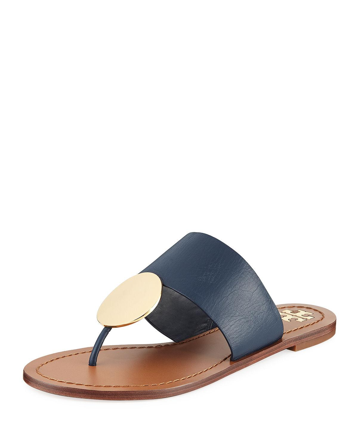 ea6c183dae9 Lyst - Tory Burch Patos Disk Sandal in Blue - Save 70%