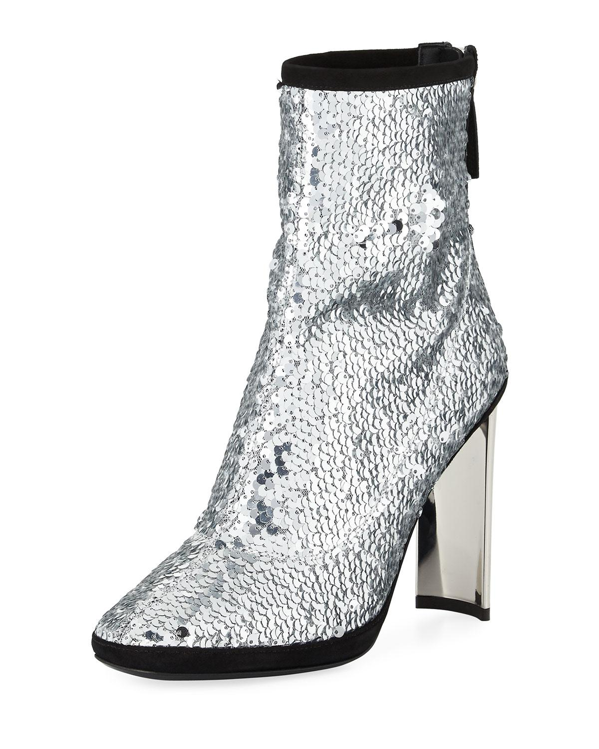 Giuseppe Giuseppe Giuseppe in Metallic 105mm Bootie Sequin Zanotti Lyst Stretch SawAx1qvnF