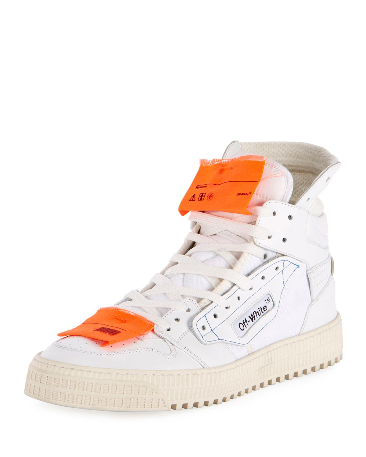 OFF-WHITE 20MM LOW 3.0 LEATHER & CANVAS SNEAKERS Great Deals Cheap Price Clearance Visit New Fashionable Cheap Online Footlocker Sale Online Discount Collections ljCTTcvKvC