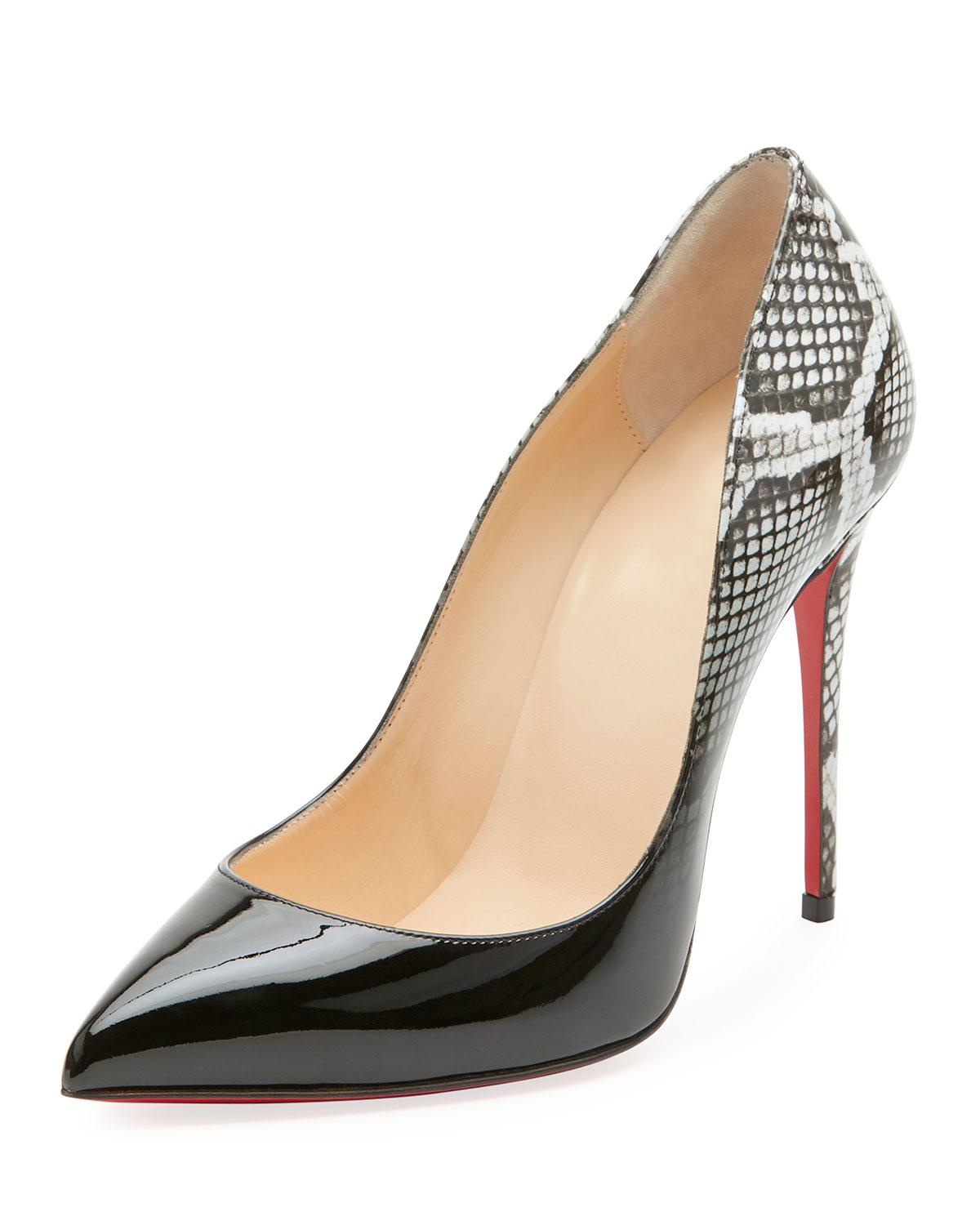 Christian Louboutin. Women's Pigalle Follies Ombre Snake-print Red Sole Pump