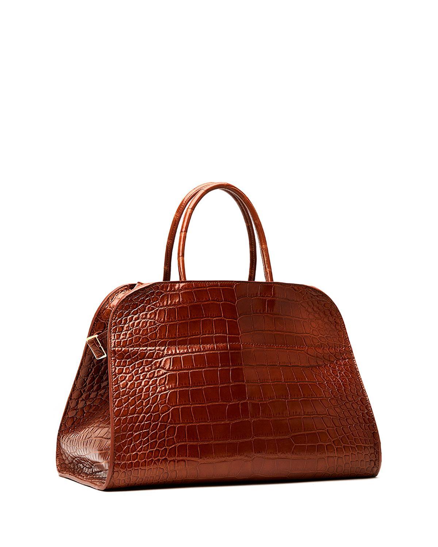 The Row. Women s Brown Margaux 15 Alligator Top-handle Bag.  65 d60c626669aad