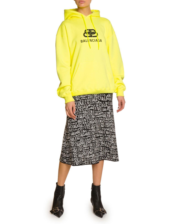 b4dfcd0955d45c Balenciaga Logo-graphic Cotton Hoodie - Lyst