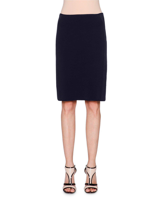 c114c548bb Lyst - Giorgio Armani Ottoman Pencil Skirt in Blue