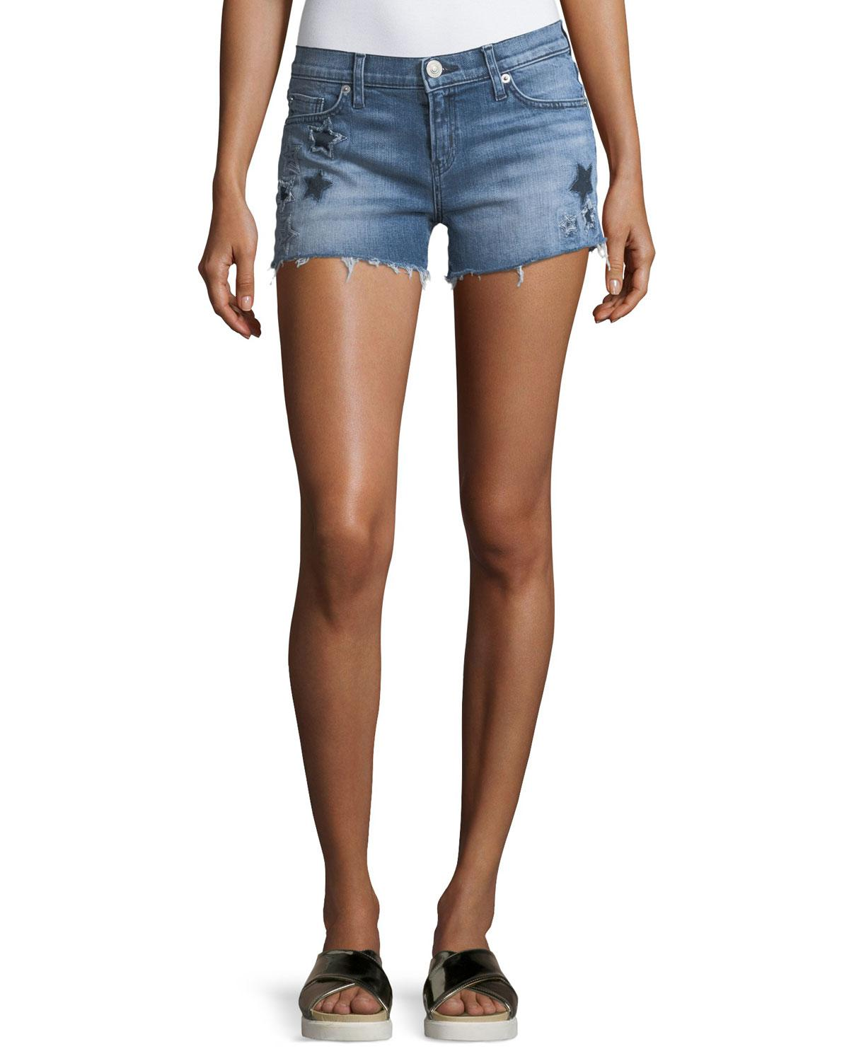 ba34866fc80 Lyst - Hudson Jeans Kali Cutoff Denim Shorts in Blue