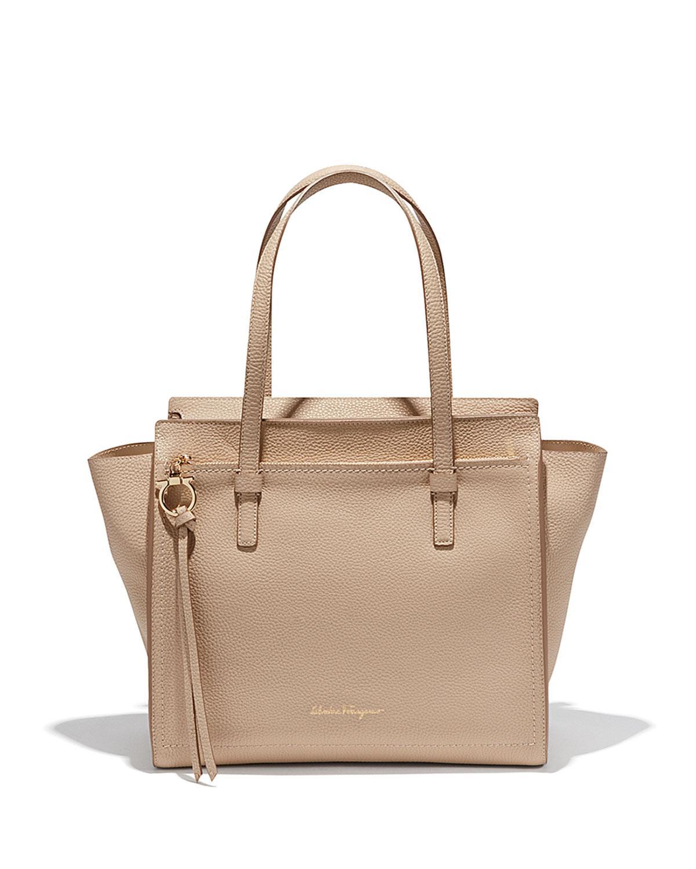 881a101eb1 Ferragamo Amy Medium Leather Tote Bag in Metallic - Lyst