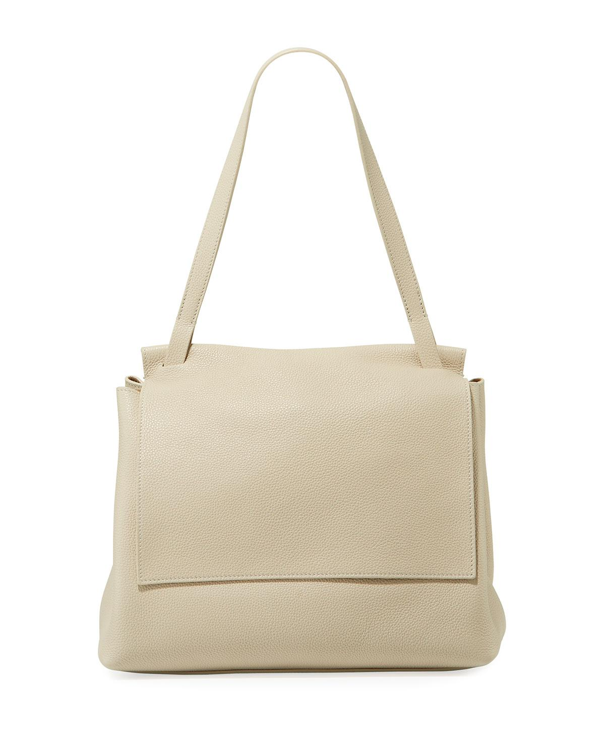 9e7c9124c79c Lyst - The Row Sidekick Two Fine Calf Leather Shoulder Bag in Natural