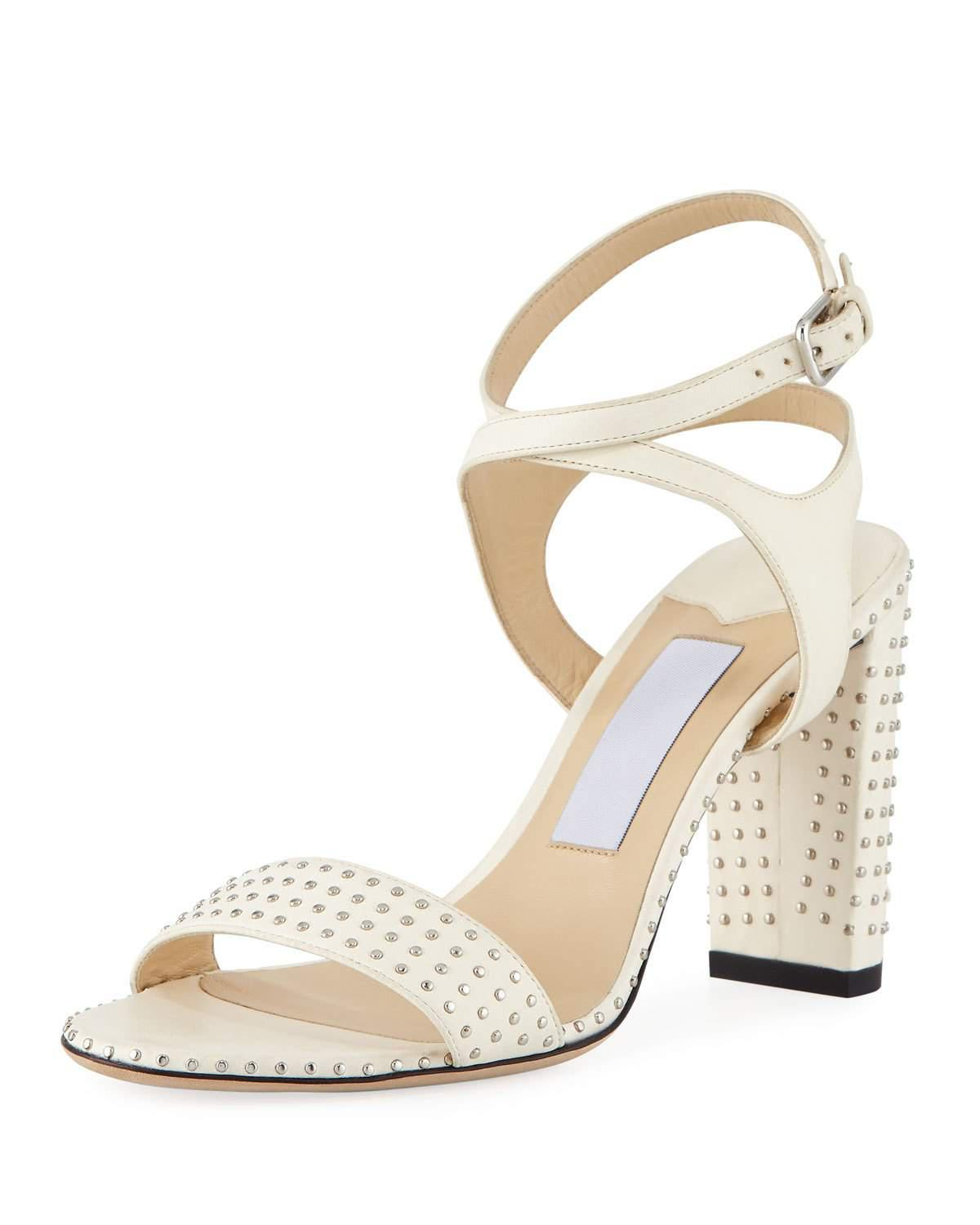 Jimmy choo Women's Marine 85 Micro-Studded Leather High-Heel Sandals Vm9D4t