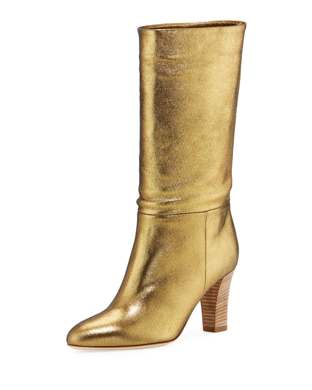 0912dd0b9b56 Long-Touch to Zoom. SJP by Sarah Jessica Parker - Reign Metallic Leather  Block-heel ...