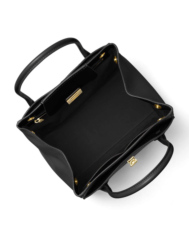 de4f9e4af39d Lyst - Michael Kors Bancroft Medium Pebbled Tote Bag in Black