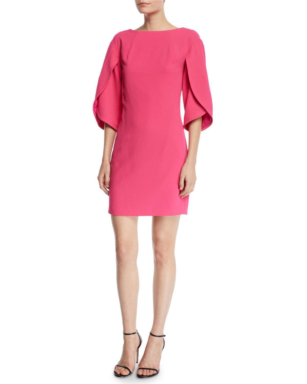 79c2dec67f6c Lyst - Trina Turk Memorable Folded-sleeve Crepe Dress in Pink