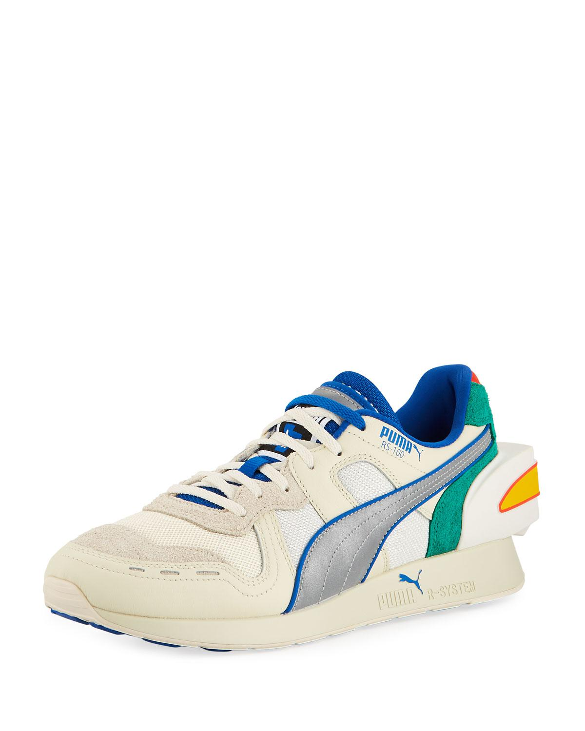 aa5d2e1f3a7614 ... Ader Error Colorblock Leather Trainer Sneakers for Men - Lyst. View  fullscreen