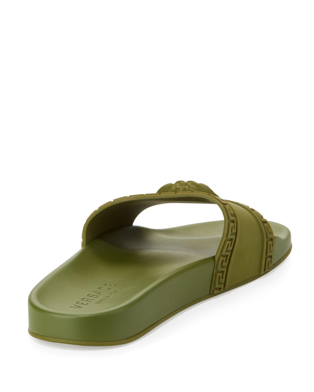 5ad905dcf1d85 Lyst - Versace Men s Medusa   Greek Key Shower Slide Sandal in ...
