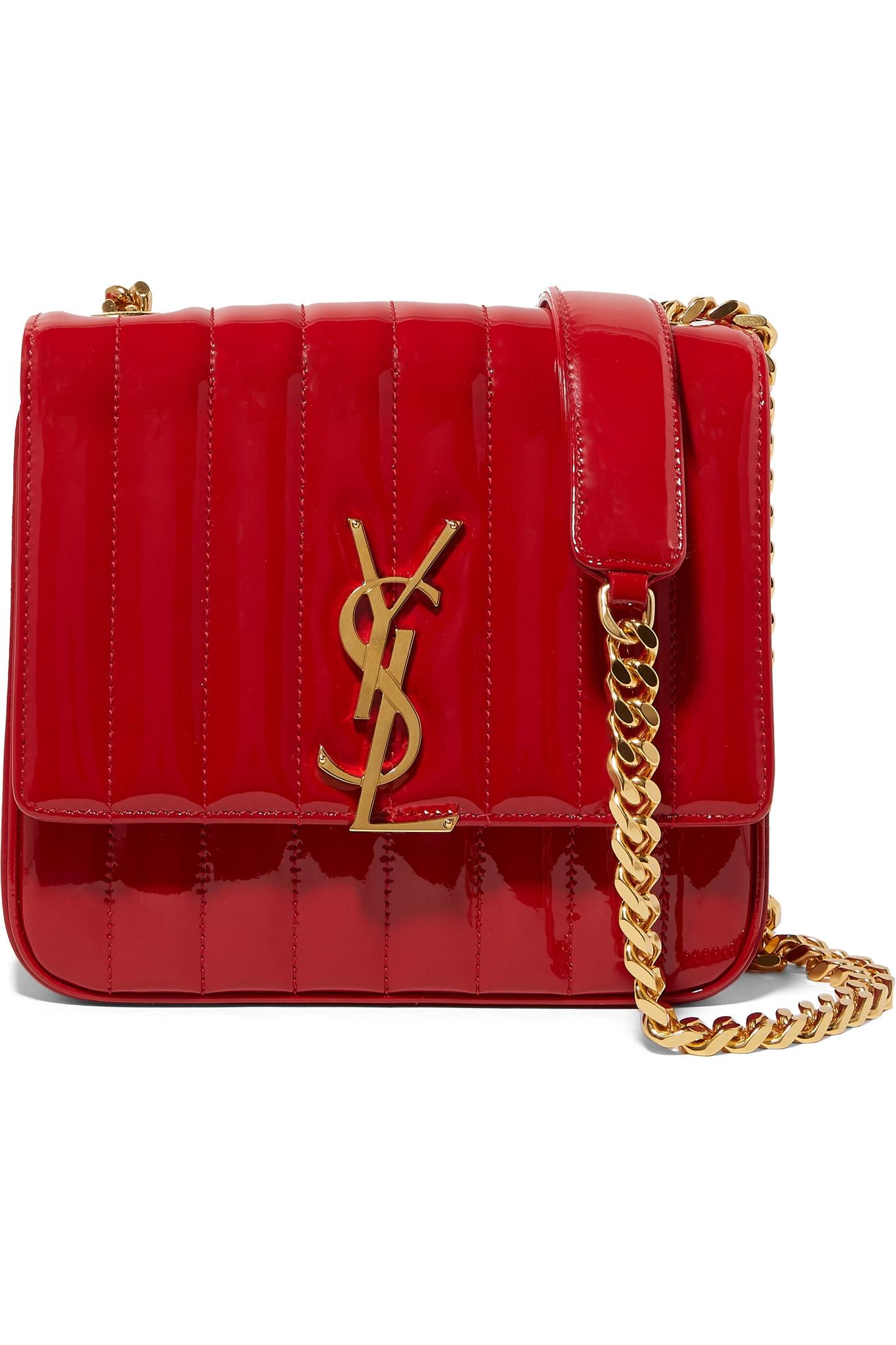 96f071c0ee Saint Laurent Vicky Medium Leather Shoulder Bag in Red - Save 10% - Lyst