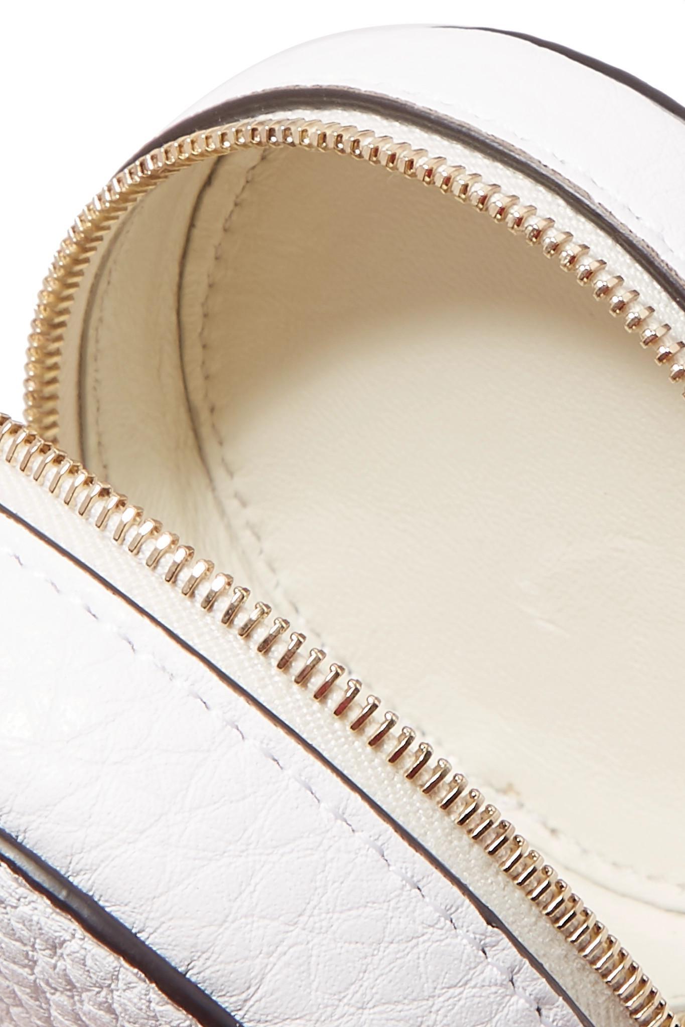320d57f0e2 Fendi - White + Fila Appliquéd Leather Bag Charm And Shell Backpack - Lyst.  View fullscreen