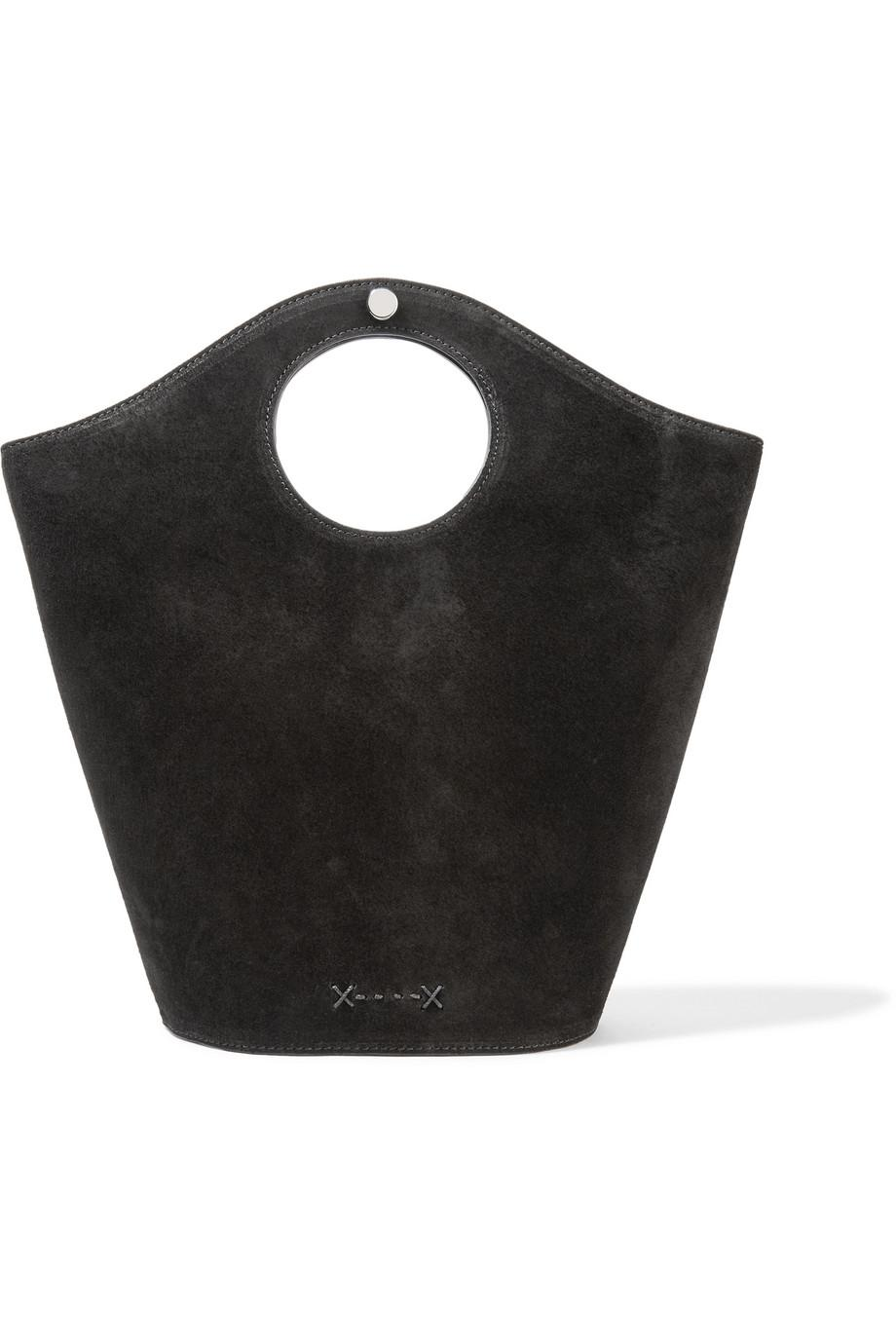 Market Small Leather And Suede Tote - Black Elizabeth & James pZpfFsFLO