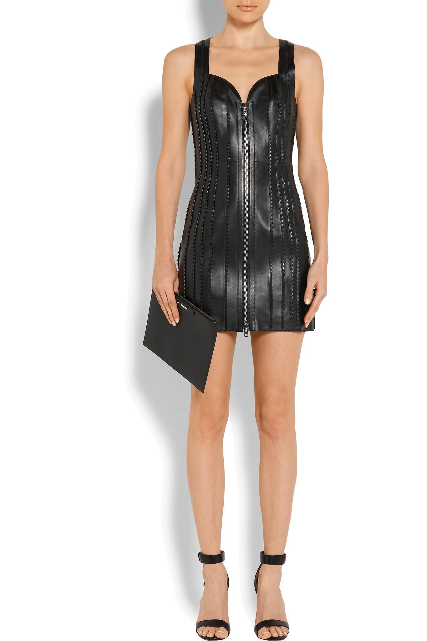 Zip-embellished Leather Mini Dress - Black Givenchy Q2xEG
