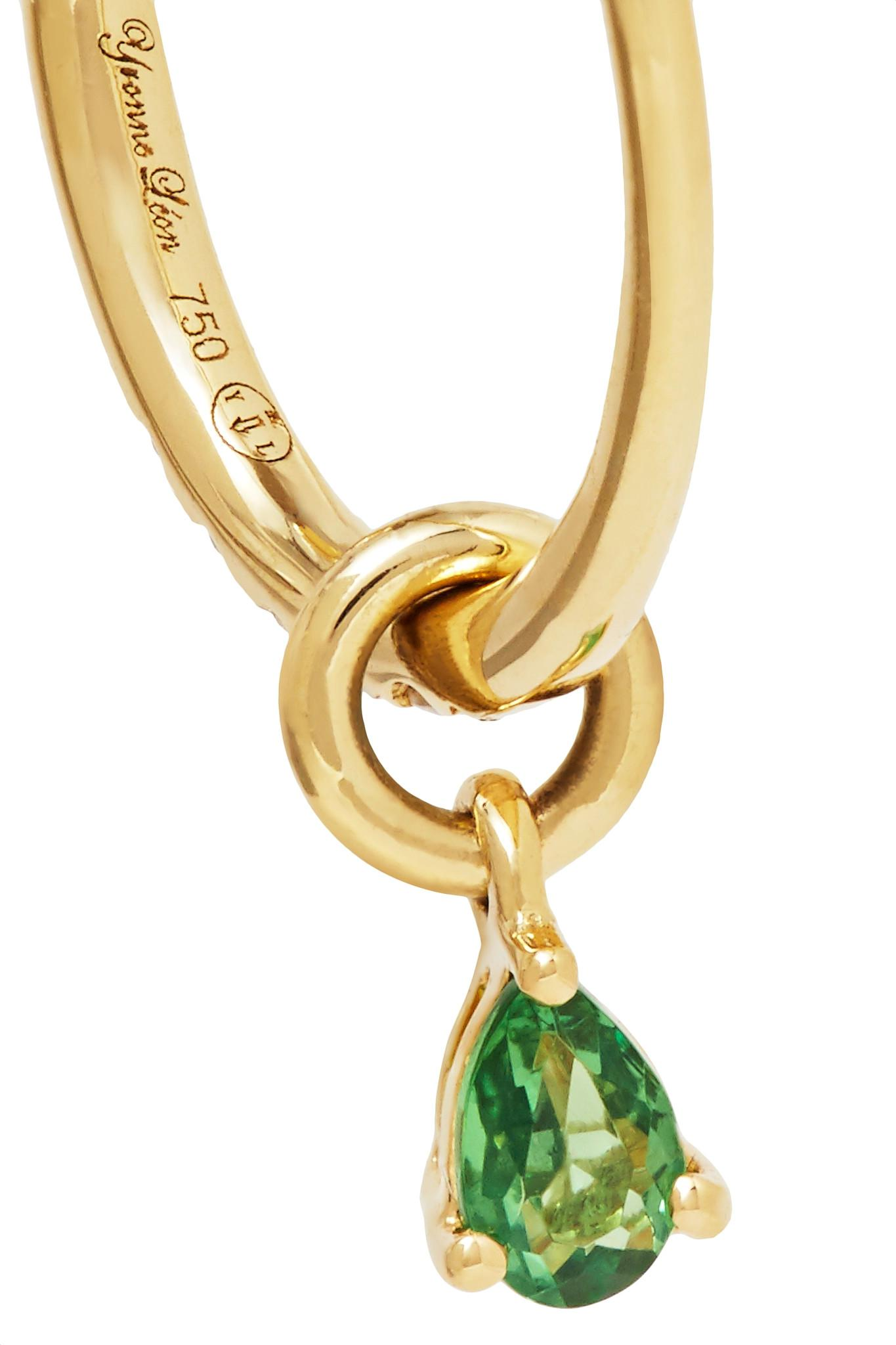 Yvonne Léon 18-karat Gold, Diamond And Tsavorite Earring