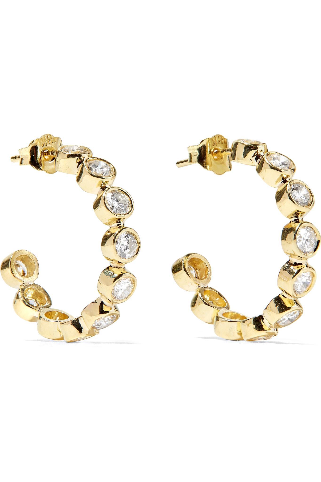 Jennifer Meyer 18-karat Gold Diamond Hoop Earrings fEGDQF