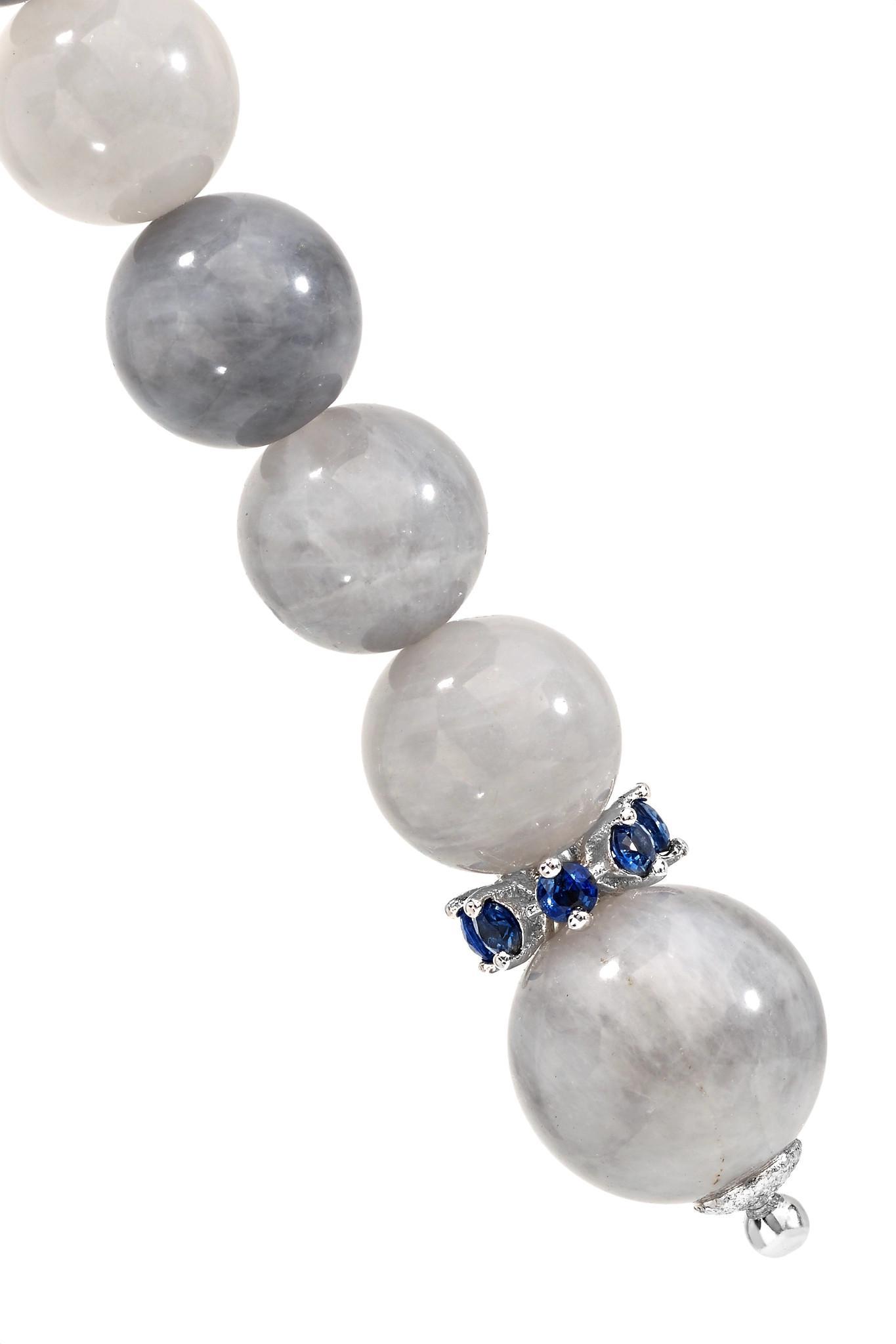 Recharmed 18-karat White Gold, Eagle Eye And Sapphire Earrings - one size Carolina Bucci