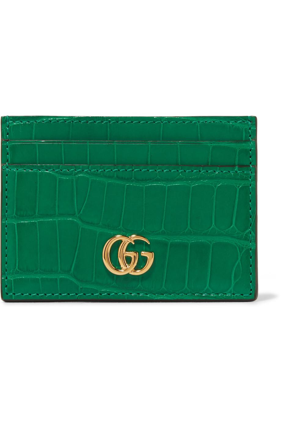 Marmont Petite Alligator Cardholder - Red Gucci ebyPmKgAx