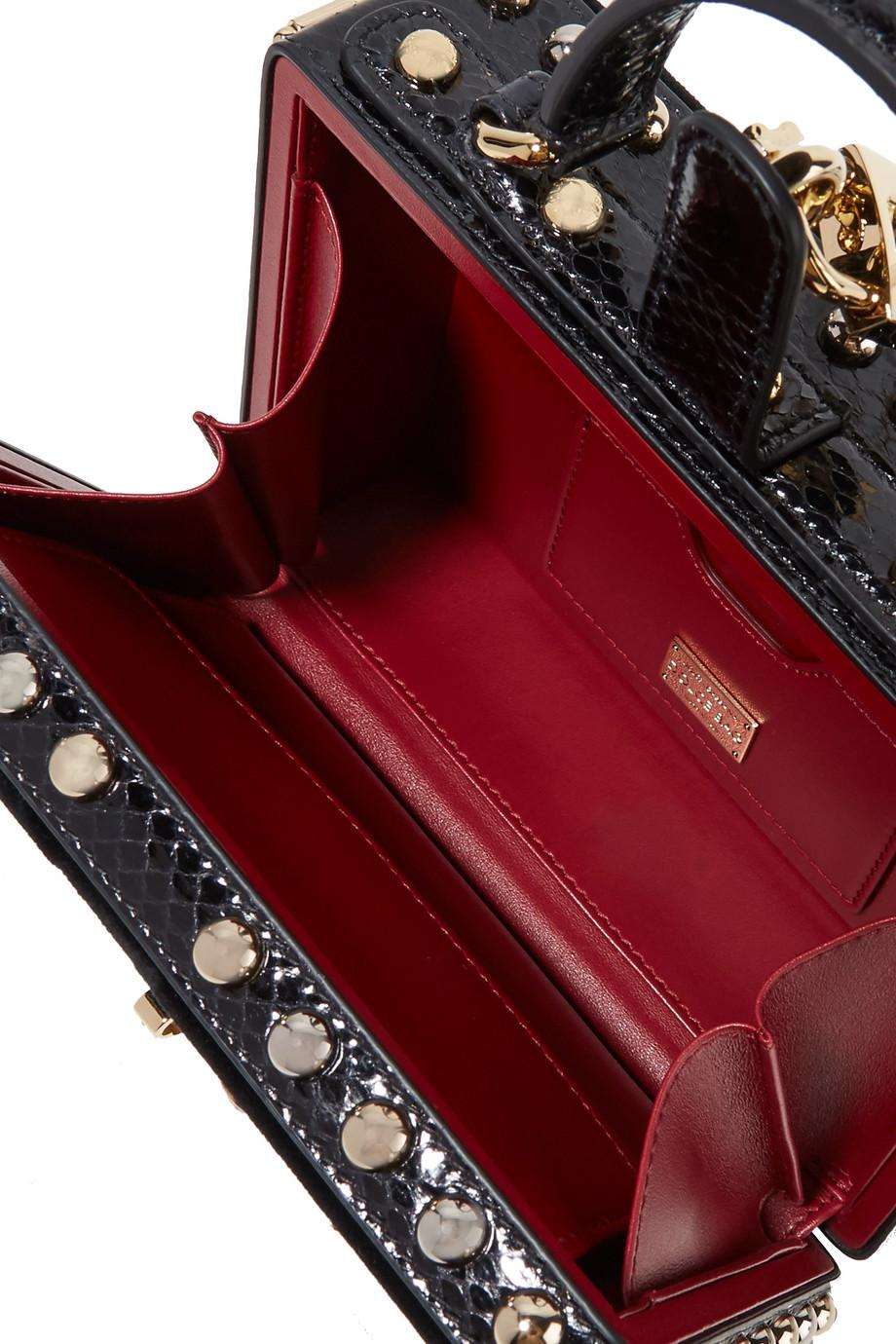 Lyst - Dolce   Gabbana Dolce Box Watersnake-trimmed Embellished ... 354c48636121c