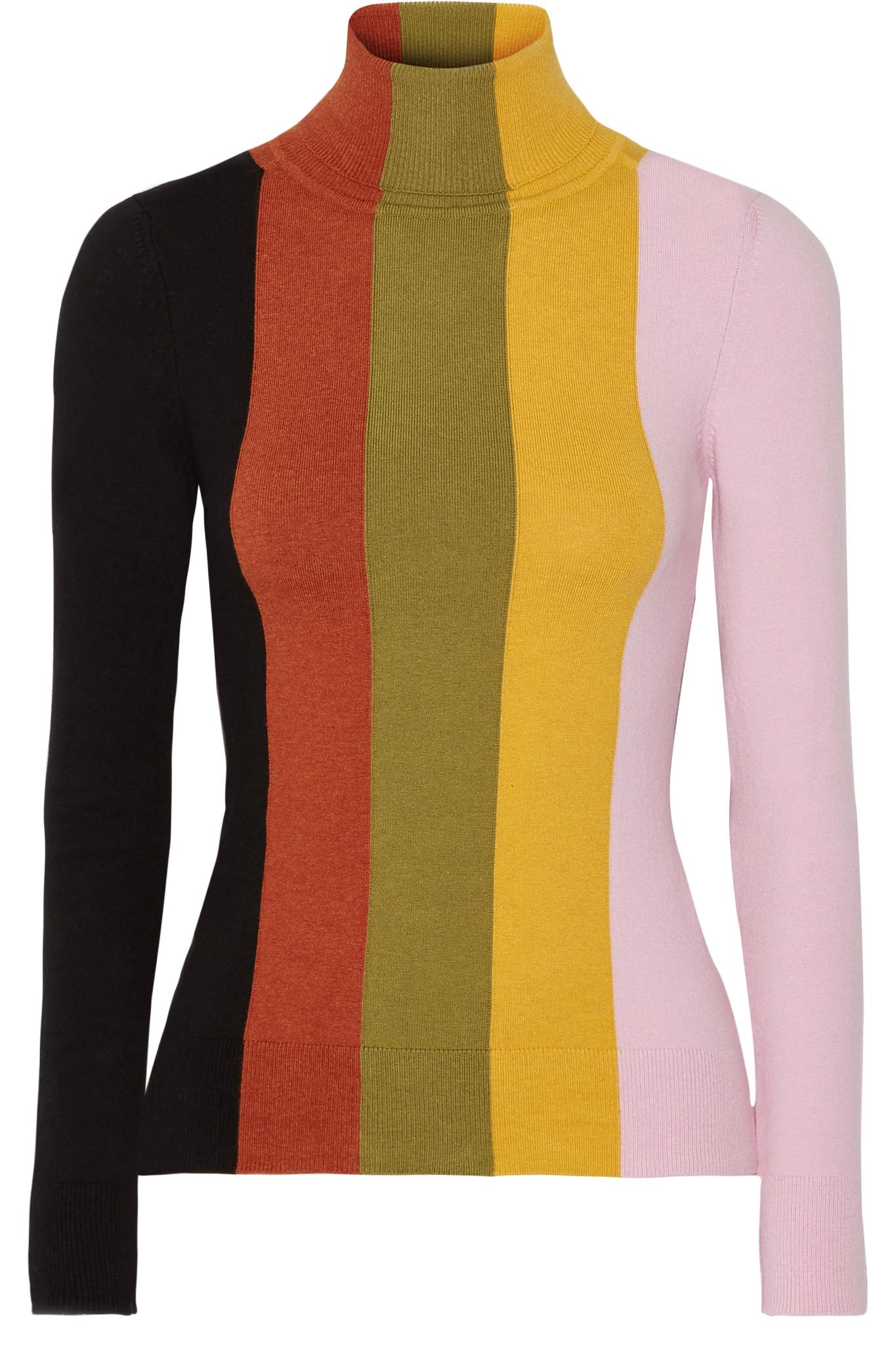 Joos tricot Striped Stretch Cotton-blend Turtleneck Sweater in ...