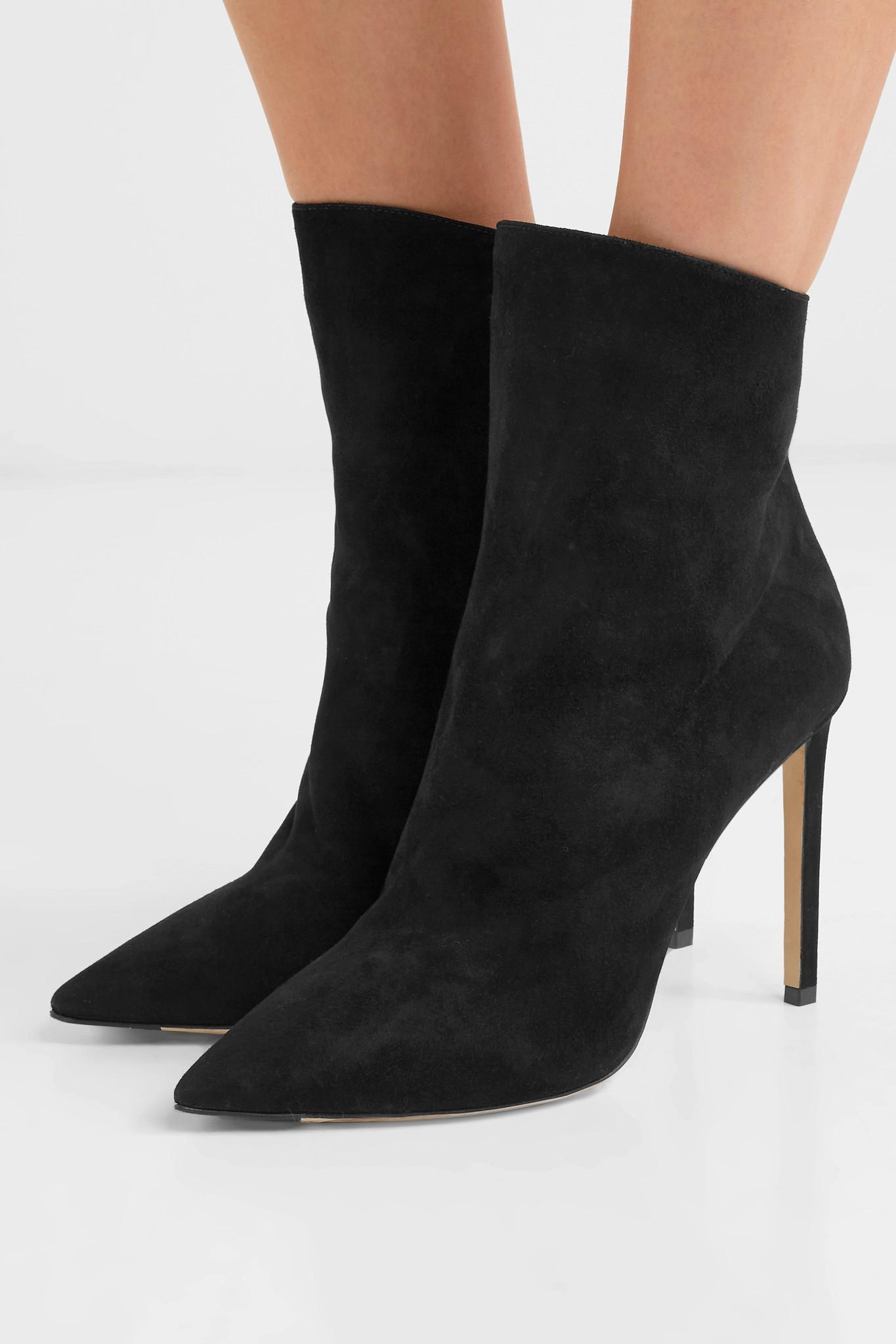 ced1529652a6 Jimmy Choo - Black Helaine 100 Suede Ankle Boots - Lyst. View fullscreen