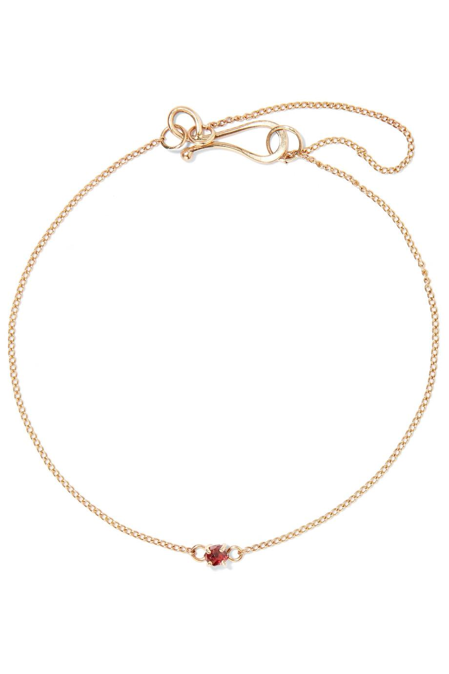 Melissa Joy Manning 14-karat Gold Garnet Bracelet iSnbV7yBuS
