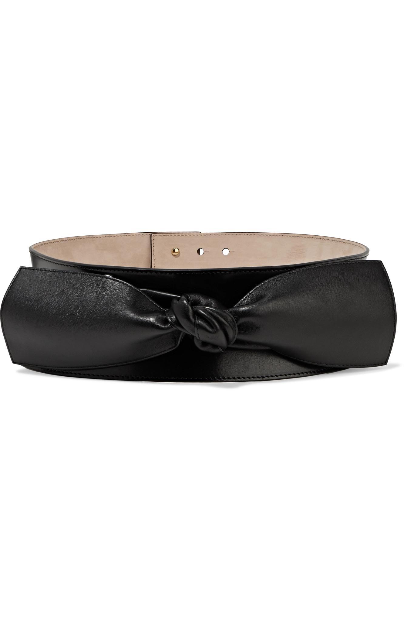 Knotted Leather Waist Belt - Black Alexander McQueen HvKIOUuUj