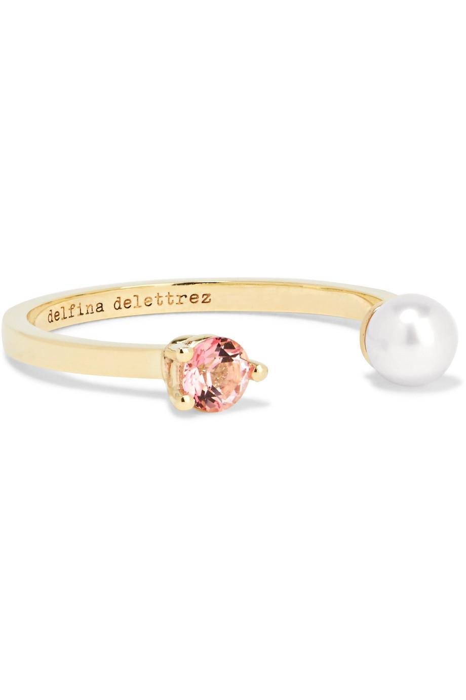 Delfina Delettrez 9-karat Gold, Topaz And Pearl Ring