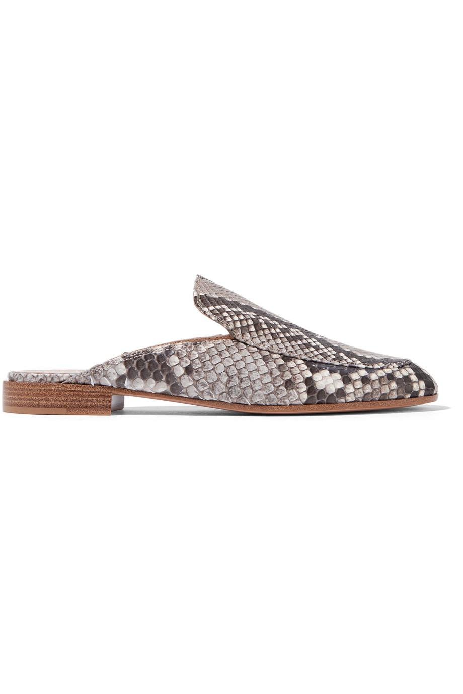 c4977eed0bd Lyst - Gianvito Rossi Woman Python Slippers Animal Print