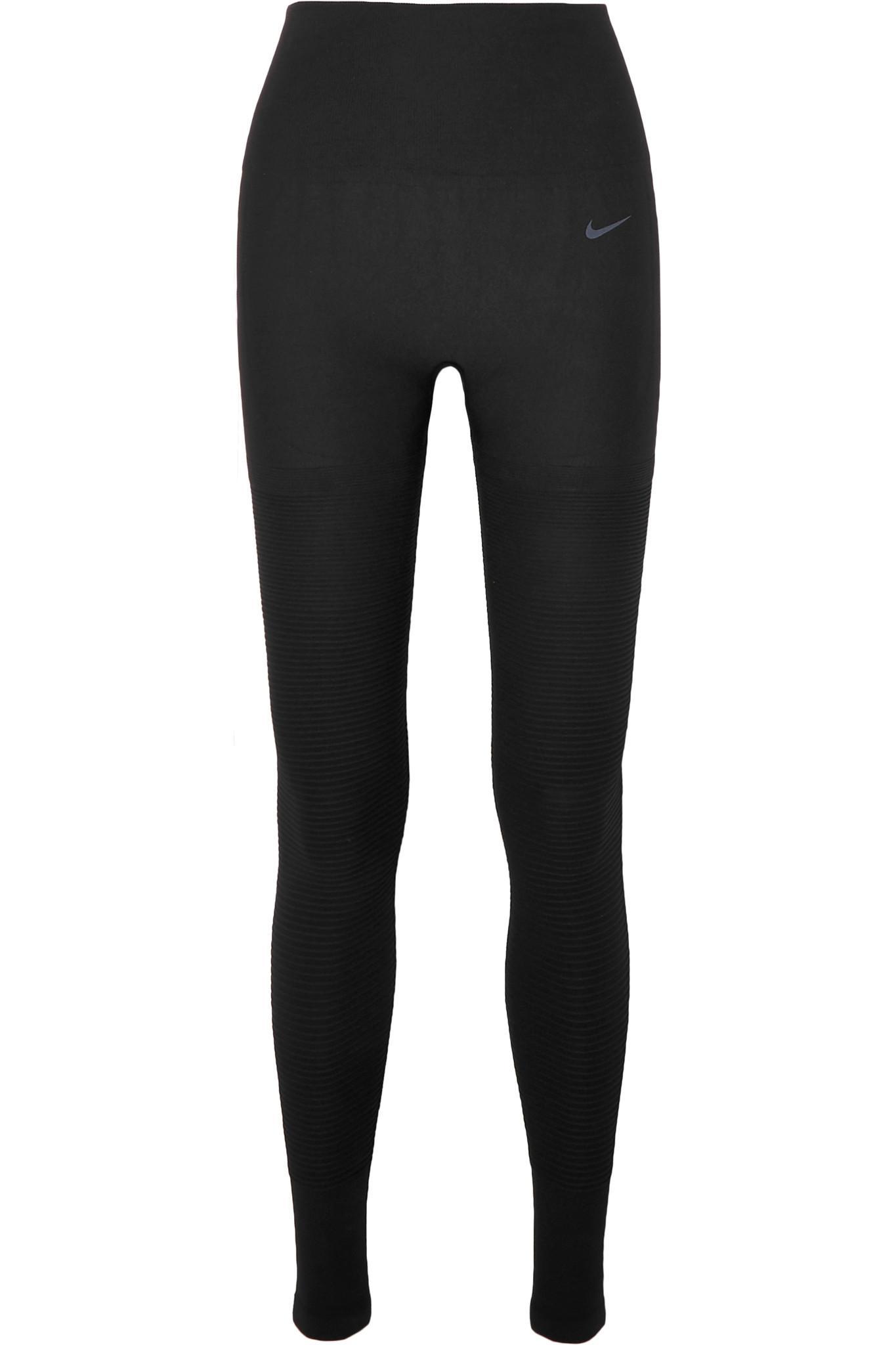 3407521b2d9a4a Nike Sculpt Lux Ribbed Leggings in Black - Lyst