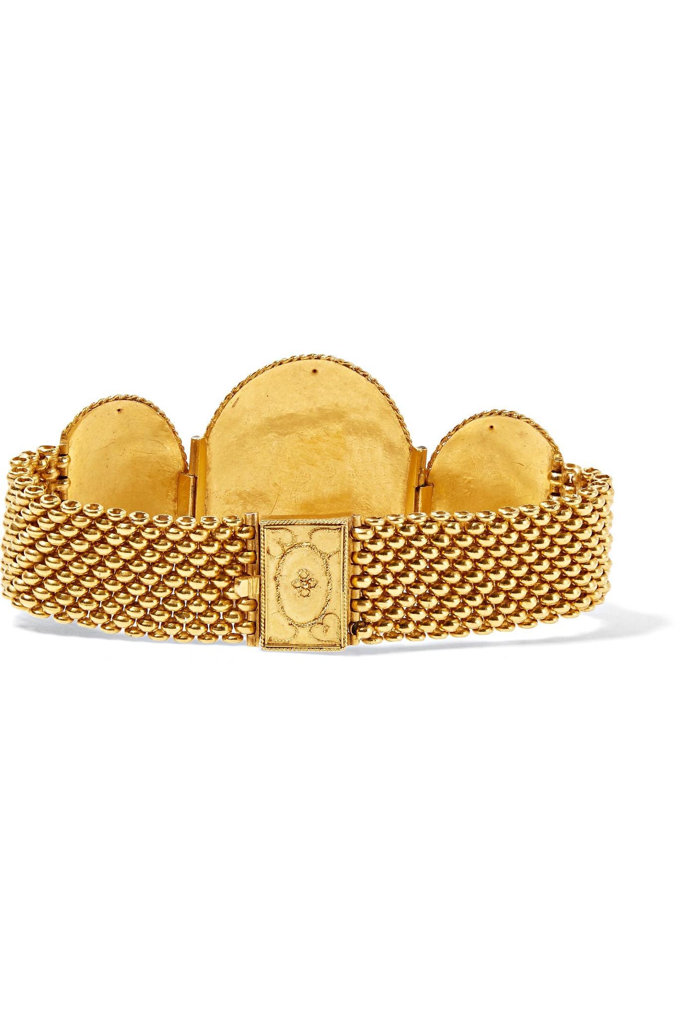 Fred Leighton 1880s 18-karat Gold Bracelet yKhWILDi4r