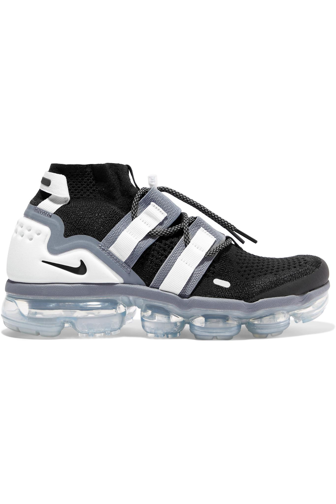 e3cc11e7c941 Nike Air Vapormax Flyknit Utility Sneakers in Black - Lyst
