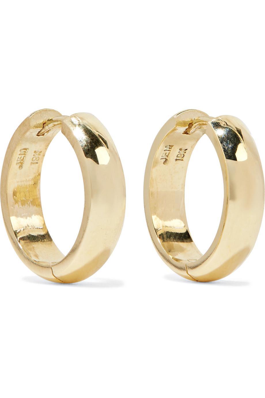 Jennifer Meyer Wide Huggies 18-karat Gold Earrings FRudAZc
