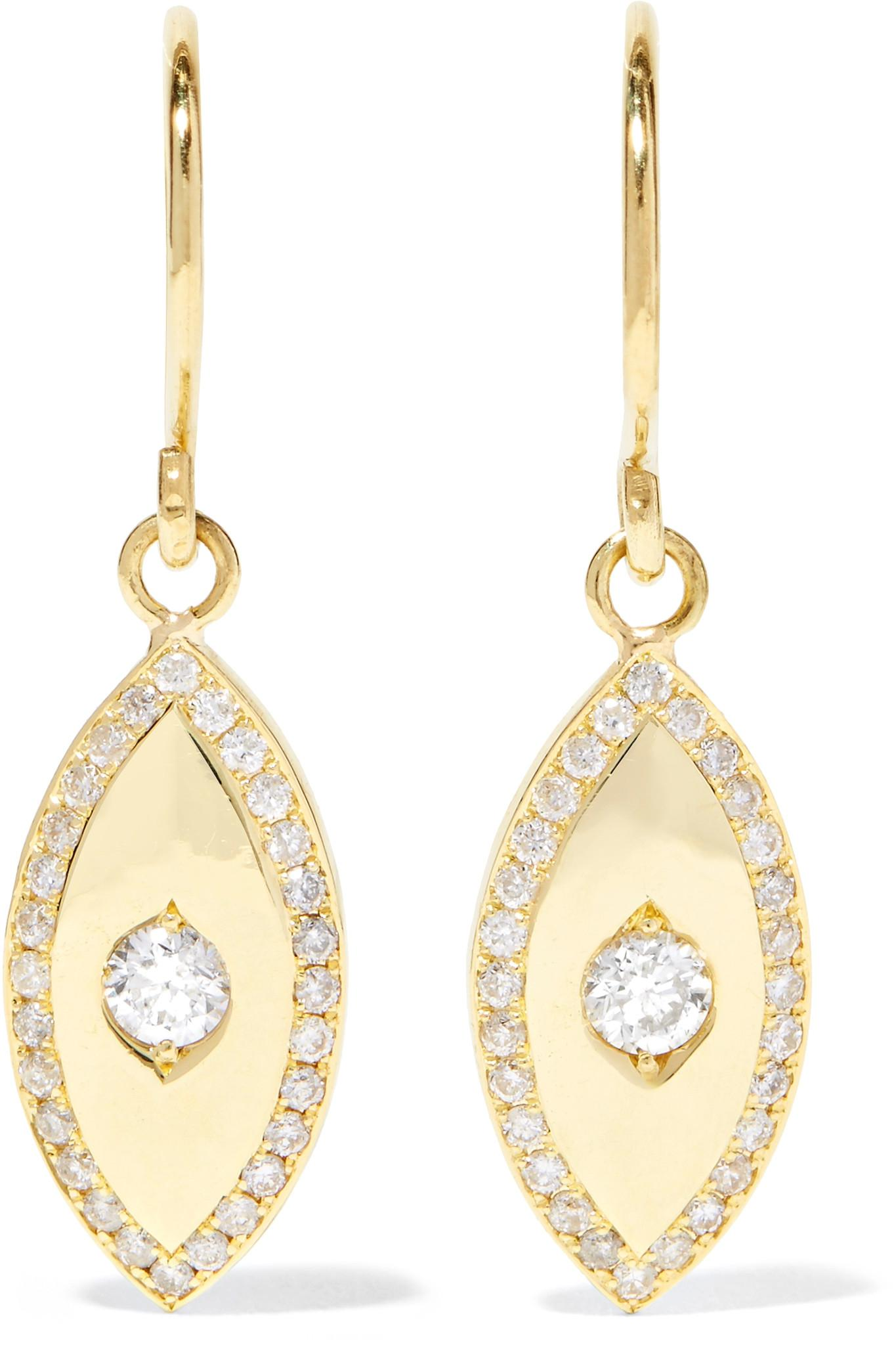 Jennifer Meyer Womens Evil Eye Drop Earrings n1HbJR