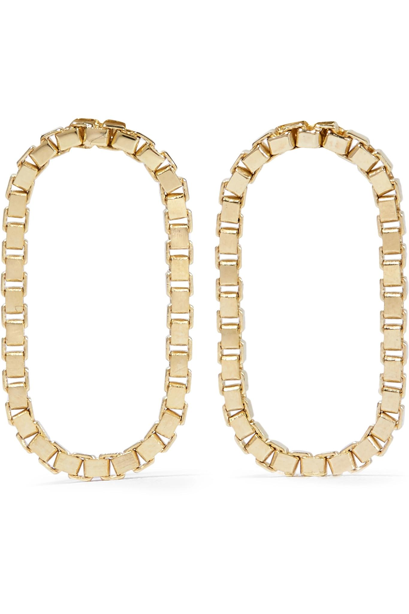 Liquid Hoops No1 18-karat Gold-plated Earrings - one size Saskia Diez a4alR7QbJ