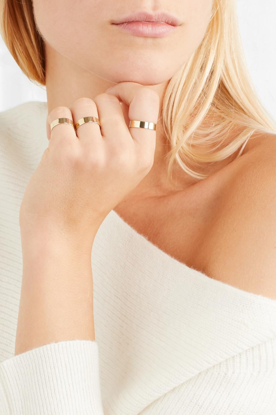 Set Of Three 10-karat Gold Rings - One size Loren Stewart VqKfuqjO9R