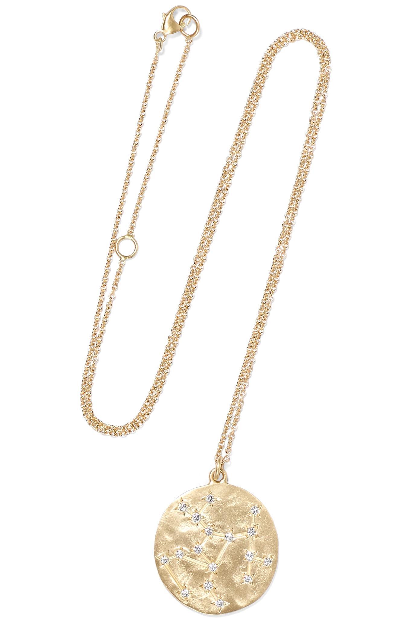 Libra 14 Carats Collier De Diamants D'or - Taille Brooke Gregson Qn84h