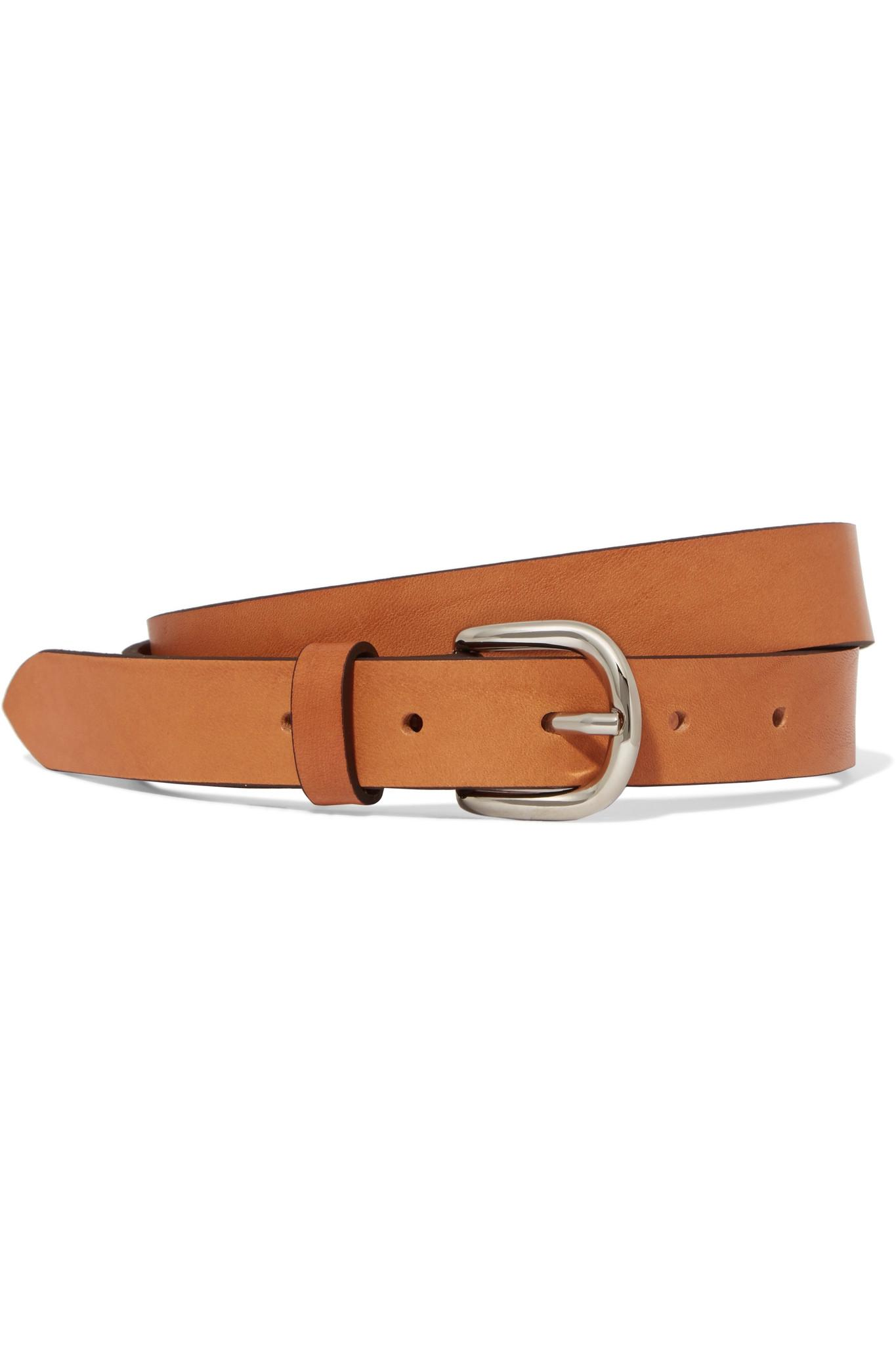 Zap Leather Belt - Burgundy Isabel Marant VcLVFvGG